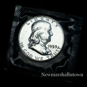 1959 Franklin Mint Proof Half Dollar From Proof Set In Mint Cellophane