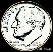 1959 Roosevelt Silver Mint Proof From Original U.s. Proof Set Raw Coin