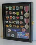 Display Case Wall Cabinet Shadow Box For Lapel Pins-medals-brooches-beach Tags
