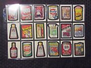 1980 Wacky Packages Sticker Card Lot Of 71 Vf/vf+ Gulp / Barman / Pollydent