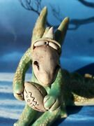 Vintage Wild Earth Studio Pottery Dragon w/ Voit Football  Hand Made