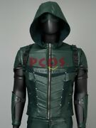 New Green Arrow Season 5 Stephen Amell Oliver Queen Jacket With Quiver