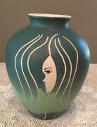 Mid Century Modern Abstract Face Vase Profile Jar Art Pottery 6""