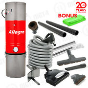 Deluxe Allegro Central Vacuum 6000sq Ft Home Wessel-werk Electric -cleaning Set