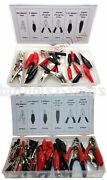 84pc Alligator Clip Assortment Set Test Lead Electrical Battery Clamp Connector