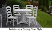 Aandl Furniture Amish-made Poly 5pc Dining Set - Round Table And Ladderback Chairs