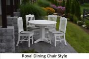 Aandl Furniture Amish-made Poly 5pc Dining Set - Table And Royal English Chairs