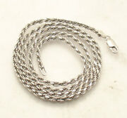 3mm Tarnish-free Diamond Cut Rope Chain Necklace Real Solid 925 Sterling Silver