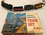 Marx Train Set Battery Operated Vintage Union Pacific Locomotive 3 Cars And Tracks