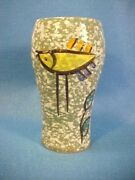WONDERFUL RETRO VINTAGE MID CENTURY ART POTTERY VASE MADE IN ITALY HAND PAINTED