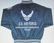 Joint Region Marianas Guam Air Force Embroidered 2-sided Satin Jacket