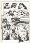 Convergence Suicide Squad 2 P.15 - Shot In The Head Action Art By Tom Mandrake