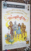 The Wizard Of Oz Original 1 Sh Folded Mgm Re-release 1972 Rare Movie Poster.