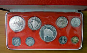 1975 Bahamas - Official Proof Set 9 - W/ 4 Silver - 3 Oz Asw - Ps12 - Beauty