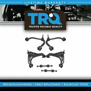 Trq 6 Pc Kit Front Upper And Lower Control Arm W/ Ball Joints And Sway Bar End Links