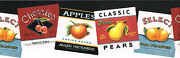 Vintage Country Apple Cherry Peach Fruit Crate Labels Die Cut Wall Paper Border