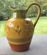 LARGE Amalfi Collection Ornamental Floor Pitcher Urn Italian Art Pottery