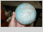 VINTAGE HAND MADE POTTERY BALL PLANET EARTH MODEL-GLOBEL RAISED 3-D LOOK