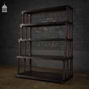 Early Anglo-indian Ebonised What Not Multi-tier Shelving