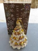 Jay Strongwater Golden Christmas Tree Peacock Ornament Elements Nib