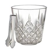 New Low Price Waterford Lismore Crystal Ice Bucket With Stainless Steel Tongs