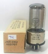 1 Nos National Union Jan 6sg7gt 6sg7 Vacuum Tube Tested New On Calibrated Tv 7