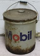 Vintage Nos Mobil Mobilux Ep-1 Lithium Grease 5 Gallon Can Full