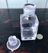 Small Apothecary Bottle With Double Pour Spout Ground Glass Stopper