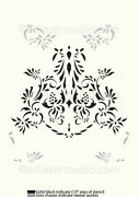 Damask Stencil Floral Pattern French Reusable Shabby Paint Furniture Wall Fl102