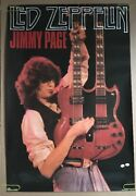 Jimmy Page Vintage Poster Led Zeppelin Pin-up Rock And Roll 1980s Guitar Stage