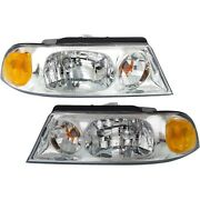 Halogen Headlight Set For 1998-2002 Lincoln Navigator Left And Right W/bulbs Pair
