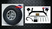 Ezgo Txt/pds Gas Golf Cart 2001.5+ 6 Lift Kit + 10 Wheels And 22 At Tires