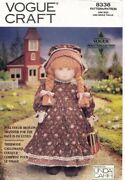 Vogue Early American Doll And Outfit Pattern 8336 Size 18 Uncut