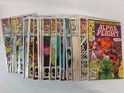 Avengers Comic Lot Alpha Flight 2-12 14-16 18-32 34-49 And More Vf+ Bagged