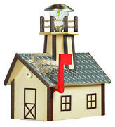 Amish-made Poly Lighthouse-shaped Mailboxes With Aluminum Diamond-plated Roofs