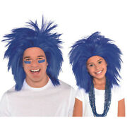 Blue Crazy Wig For Adults Or Kids Birthday Halloween Party Supplies Costume