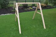 Aandl Furniture Co. Amish-made 4x4 Cedar A-frame Swing Stand Hangers Included