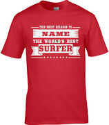 Surfer Mens Personalised T-shirt Surf Surfing Extreme Sport Water Waves Gift