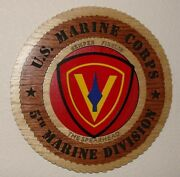 Us Marine Corps 5th Marine Division - Laser Cut 3d Wood Wall Tribute Plaque 11andfrac14
