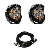 Baja Designs Pair Lp9 Led Driving/combo Lights And Harness Kit