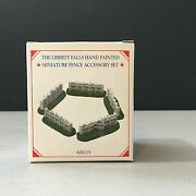 Liberty Falls Miniature Fence Accessory Set Of 5 Hand Painted Pewter New Ah225