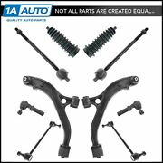 10 Piece Steering And Suspension Kit Control Arms Tie Rods Bellows Sway Bar Links