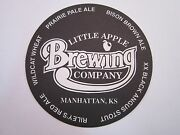 Cool Beer Coaster Little Apple Brewing Company Manhattan, Ks Brewery 1995