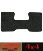 1975-1986 Chevy C10 Floor Mat - 1pc Front -cutpile  2wd Auto 3spd Low Tunnel