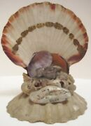 Old Wallenpaupack Pa Souvenir Inkwell - Ornate Seashell Art Compliments Of...