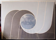 Edna Andrade Lithograph Moon Clouds Signed Op Art Vintage Rare 1971