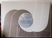 Edna Andrade, Lithograph, Moon Clouds, Signed Op Art Vintage Rare 1971