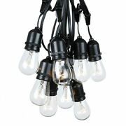 100 Foot S14 Suspended Edison Outdoor Market Patio String Lights, 50 S14 Bulbs