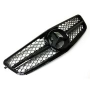 Amg Style Front Radiator Grille For Mercedes C-class C204 W204 S204 Gloss Black
