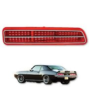 69 1969 Chevy Camaro Red Led Rear Right Rh Tail Brake Light Lamp Lens And Trim